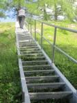Treppe am Ende des Rosegger-Steiges