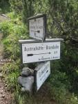Abzweigung Edelgrieß - Austriahütte