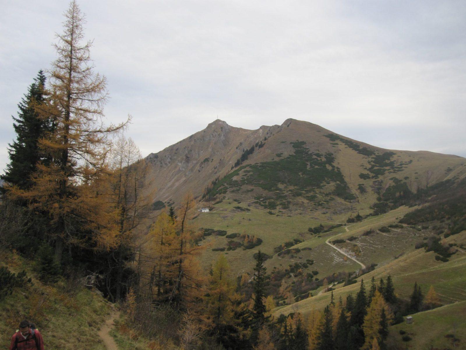 Blick auf Leobner Hütte und Polster