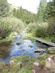 Steg über Abfluss Kleiner Scheibelsee
